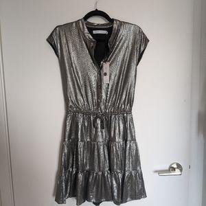 NWT Rebecca Minkoff Ollie Silver Dress 👗 XS